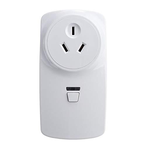 Pudincoco 10A Wifi Prise intelligente Prise d'alimentation Prise de télécommande sans fil Prise intelligente (Couleur: blanc)