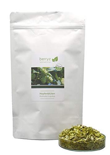 Hopfen Blüten | wertvolle Bitterstoffe | Hopfentee ideal zum Abend und Nacht | 100% natürlicher Kräuter Tee | 60g