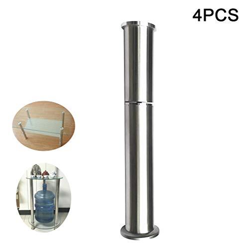 JJZCJ Tischbeine Tischbeine Metall Abnehmbarer Boden Höhenverstellbar Erhöhter Edelstahlboden Starke Tragfähigkeit Für Couchtische Esstische