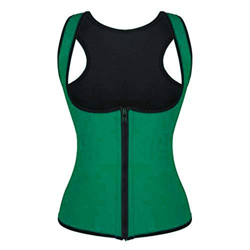 WELCO 2021 - Cors para mujer, cors adelgazante, para hacer ejercicio, cintura, trabilla de espalda, cintura reductora, ropa interior, ropa interior Vert10 XL