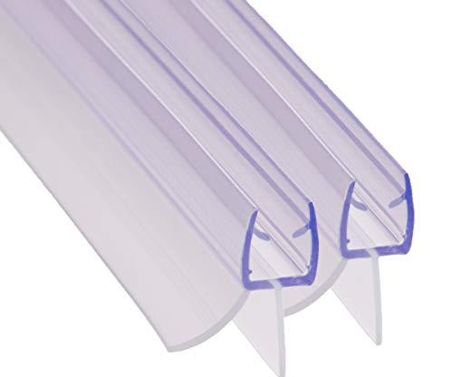 REDICHT 2x 100cm Duschdichtung transparent, für Glasstärke 6mm 7mm 8mm, Ersatzdichtung Dusche, Duschkabinen Dichtung, UV- und Schimmelbeständig