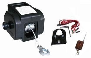 Seilwinde/Handseilwinde/Flaschenzug elektrisch 12V 907 kg mit kabelloser Fernbedienung
