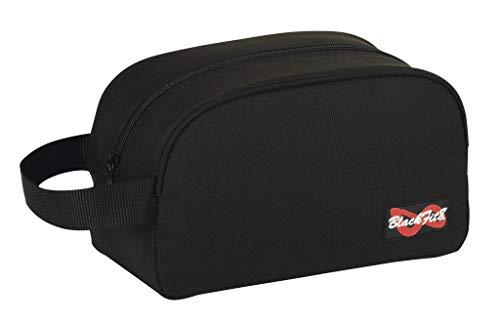 blackfit8 Grand kulurtasche de Robuste nylon, trousse avec fermeture à glissière et pratique bride à porter ou à pendre taille: 26 x x 12 15 cm - Noir