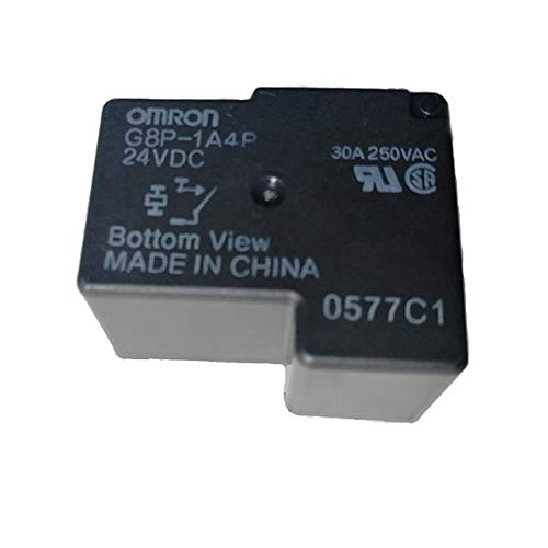 G8P-1A4P-24VDC Fully-Sealed PCB Relay 30A 250VAC for PC Board or Panel-Mounted (Black)