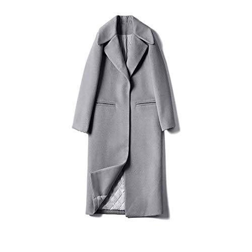 H2okp-009 Dames winter-normale lak reverskraag dikke dunne lange trenchcoat warme outwear eenvoudig casual