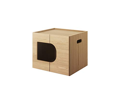KARIMOKU CAT RESTROOM カリモク家具 日本製 猫用トイレ収納BOX 木製 完成品 (ピュアオーク)
