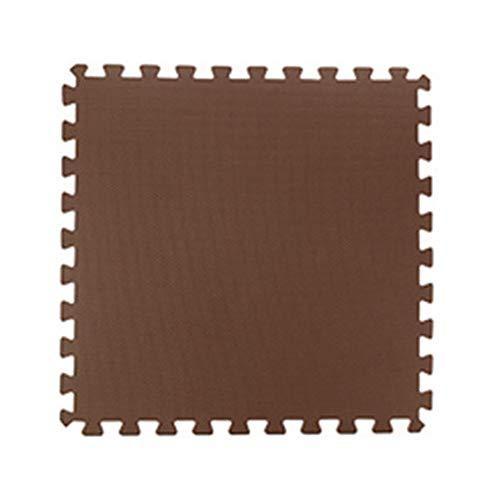 WZHIJUN Tapis de jeu Mousse Antidérapant Bébé Tapis Rampant Enfant Épissure Tapis 50x50x2cm 10 Couleurs (Color : Dark Coffee, Size : 15pcs Pack)