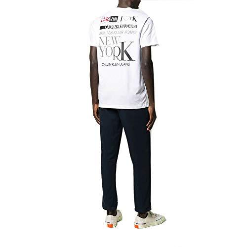 Calvin Klein T Shirt Uomo J30J315007 YAF Bianco, Bianco, S