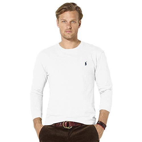 Ralph Lauren T-Shirt à Manches Longues en Cotton Stretch (S, Pure White)