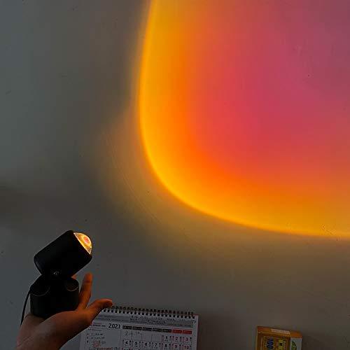 Proyector De Luz Nocturna Lámpara LED Lámpara De Proyección De Arco Iris De Rotación De 90 Grados