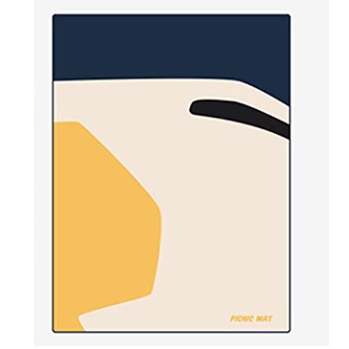 OINDMM Matada de Picnic de la Estera de Playa al Aire Libre, Estera de Picnic al Aire Libre Salta de césped de excursión de Resorte, Manta de Picnic Plegable (Color : Yellow 140x195cm)