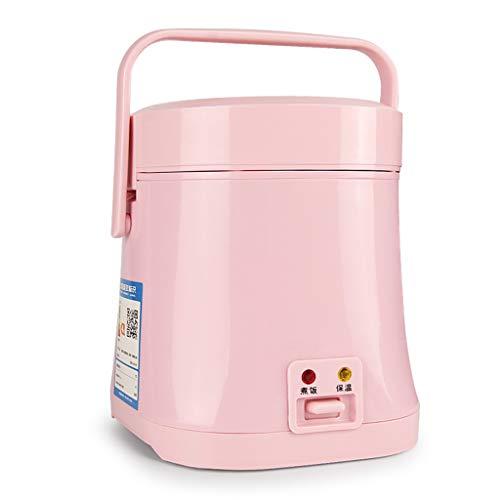Cuiseur à riz cuiseur vapeur avec marmite antiadhésive et opération à touche unique - un riz parfait pour deux personnes (Couleur : Pink)