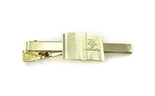 Book of Mormon Tie Bar - Open Scriptures Design - Gold Color