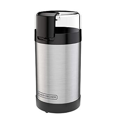 BLACK+DECKER , 2/3 Cup Coffee Bean Capacity, Stainless Steel