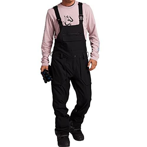 Volcom Men's Roan Bib Overall Snowboard Pant, black, Large