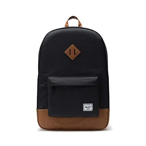 Herschel Retreat Classics Rucksack Unisex, Black/Tan Synthetic Leather Backpack, Einheitsgröße