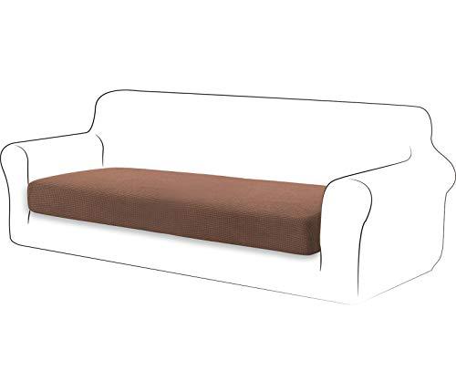 TIANSHU High Stretch Kissenbezug Sofakissen Schonbezug Möbelschutz Sofasitzbezug für Couch 1-teilige Kissenbezüge für 3 Sitzer (3 Sitzer, Kaffee)