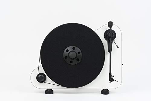 """Pro-Ject VT-E R BT, Vertikaler """"Plug & Play"""" Plattenspieler mit Bluetooth, Rechtshänder, Weiß"""