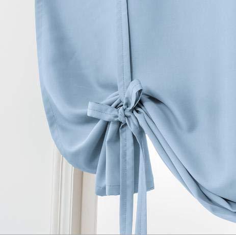 Nileco Roman Klein gordijn, verduisteringsgordijn, dubbelzijdig mat raam drapeert, zacht, permanente gordijnen slaapkamer woonkamer