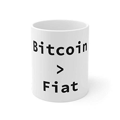 Bitcoin - Taza de café con texto en inglés