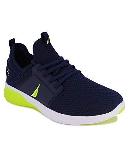 Nautica Men's Casual Fashion Sneakers-Walking Shoes-Lightweight Joggers-Rainey Sport-Navy Lime-12