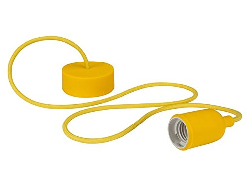 VELLEMAN - LAMPH01Y Vellight  Design Deckenleuchte mit Textilkabel, Gelb 232276