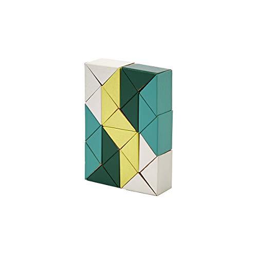 Areaware Snake Blocks jaune & vert   3D Puzzle en bois �
