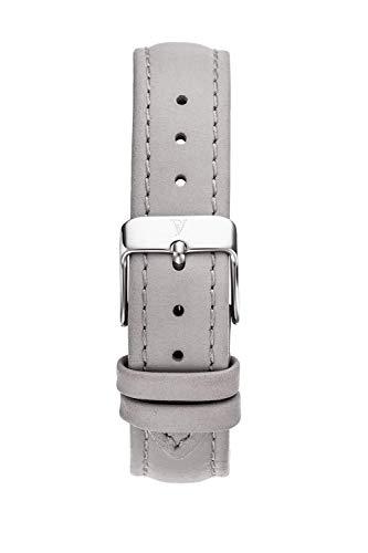 PAUL VALENTINE ® Uhren-Armbänder für Deine individuelle Uhr - In vielen Damenuhr (Grey Leather Strap