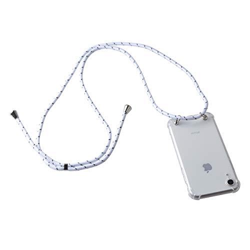 Gift_Source LG Q6 Hülle, LG Q6 Plus Hülle, [Weiß] Dünn klare TPU Weich Silikon Schutzhülle Handykette Handyhülle Stoßfest Bumper Necklace Hülle mit Kordel zum Umhängen für LG Q6/LG Q6+/LG Q6a (5.5