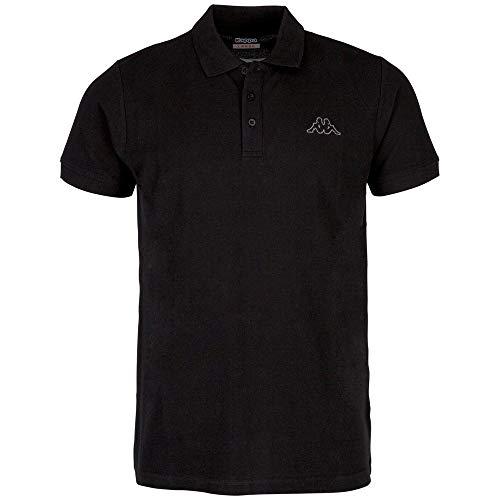 Kappa Herren PELEOT Poloshirt, 005 black, 4XL