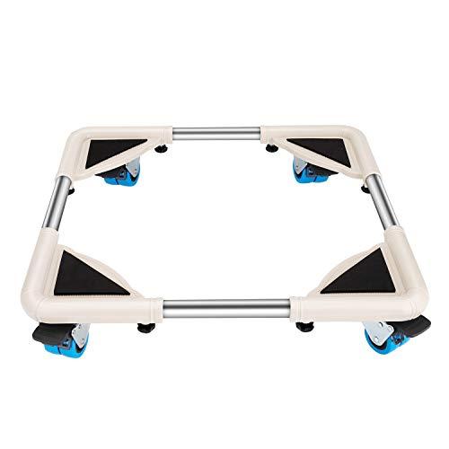 DOZAWA Telescopic Furniture Dolly with 8 Locking Wheels,Washing Machine Stand Refrigerator Base Moving Cart Size Adjustable