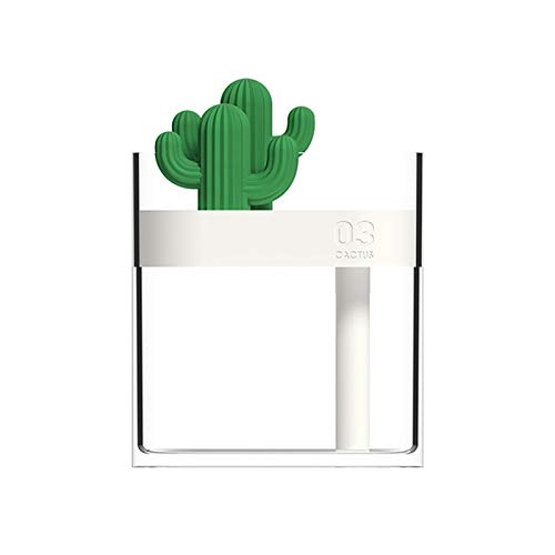 SVNA Mini humidificador doméstico, purificador de Aire de Cactus Transparente ultrasónico, rociador de Iones Negativos silencioso de Carga USB de Escritorio para Dormitorio