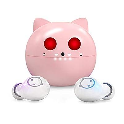 Wireless Earbuds,Cute Kittycat Cartoon Design i...