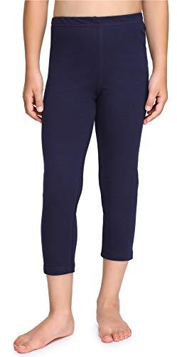 Merry Style Mädchen 3/4 Leggings aus Baumwolle MS10-226 (Marineblau, 134 cm)