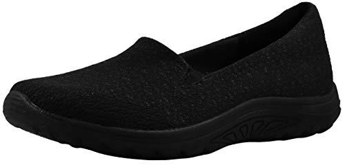 Skechers Women's Reggae Fest-Wicker Black/Black Loafer Flat 10 M US
