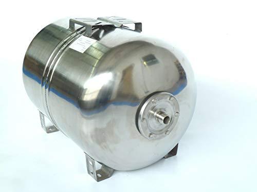 Druckkessel, Membrankessel 100 Liter INOX für Hauswasserwerk aus poliertem Edelstahl u. EPDM Membran. Druck- und Dichtheitsprüfung nach EN Normen !!! Max. Druck 10 bar.