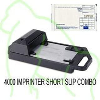 Addressograph Bartizan 4000 Credit Card Imprinter (with 100 Short Sales Slips)