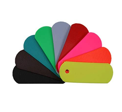 BioThane® Meterware, Beta Super Flex, 9-25 mm breit, ca. 1,5 mm dick, viele Farben, 13mm, Schwarz