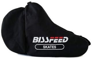 ローラースケートバッグ ヘルメット/靴入れ インラインスケートブーツ収納バッグ 子供 大人用 オックスフォード 防水 厚手 軽量 ショルダーバッグ おしゃれ 大容量 靴 収納ケース 肩掛け 手提げ式 スケートシューズバッグ アウトドア 丈夫 無地 黒