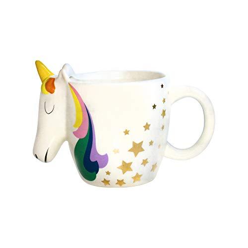 I-Total - Tazas de café de cerámica de 300 ml (Unicorn 2).