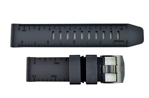 Genuine Luminox Recon II Nav 8840 8830 23mm Black PU Watch Band Strap