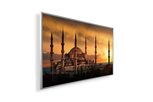 600W/800W/1000Watt Infrarot Bildheizung Ölgemälde (Infrarotheizung mit hochauflösendem Motiv) (1000W-ÖL11 Moschee) - inkl. Thermostat