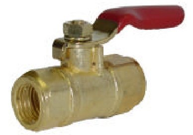"New Mid Flow Ball valve 1/4"" Fpt x 1/4"" Fpt - water, oil or gas PERFECT FOR TANK DRAIN"