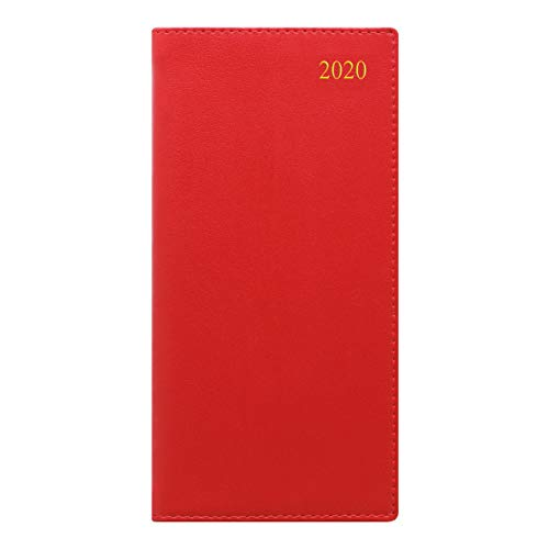 Letts Signature Week to View 2020 Planner, Bonded, Burgundy, 6.625 x 3.25 inches (C38SUBY-20)