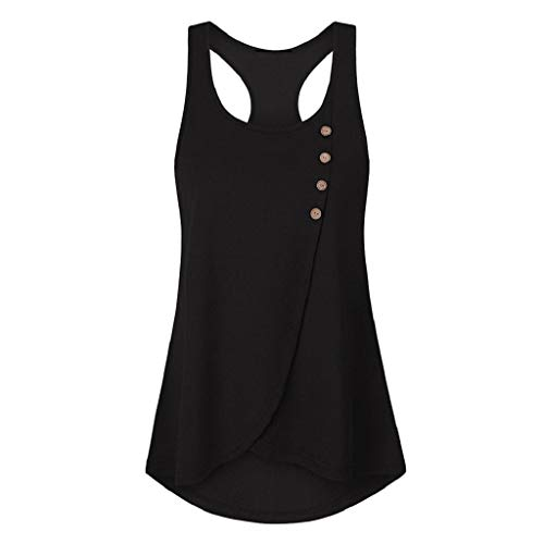 Luckycat Mujer Camiseta Elegante Casual Playa Sin Manga Camisola Escote Tirantes...