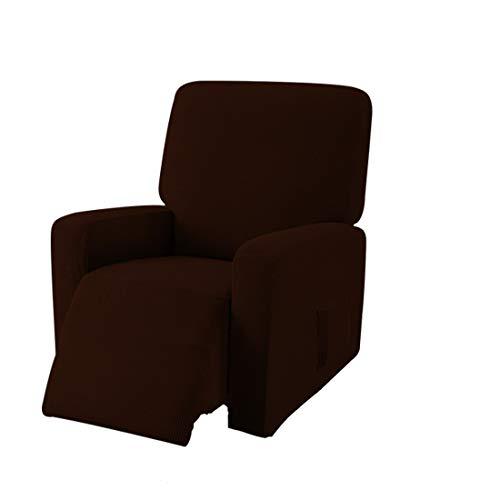 E EBETA Jacquard Funda de sillón, Capuchas elásticas para sillón, Elástico Funda para sillón reclinable (Chocolate)
