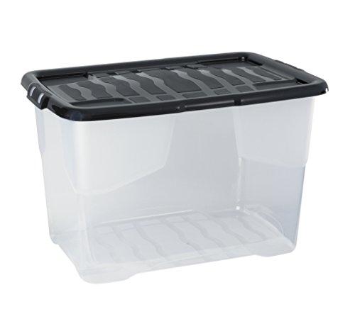 Cep 2002030110 XW203 Boîte de Rangement Plastique Cristal 65 L 60 x 39,70 x 37,79 cm