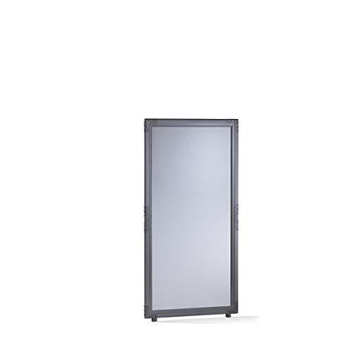 Cloison - verre acrylique fumé - h x l 1300 x 650 mm, cadre gris ardoise - Dispositif de délimitation Paroi de séparation Parois de séparation Séparation Cloison Cloison de séparation Cloison industrielle Cloison insonorisante Cloisons Cloisons de