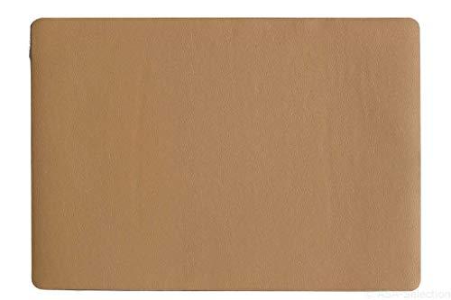 Lot de 6 sets de table imitation cuir Caramel 46 x 33 cm