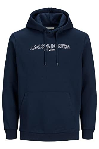 JACK & JONES PLUS JJBANK Sweat Hood PS Sweatshirt Capuche, Blazer Bleu Marine, 6XL Homme